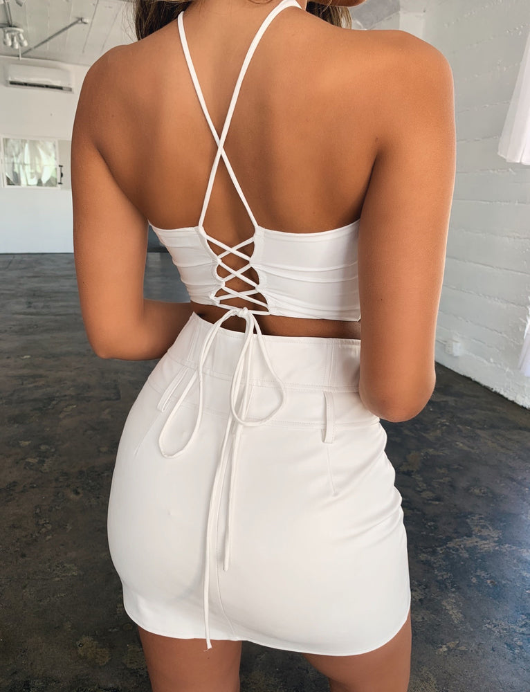 Athena Crop - White