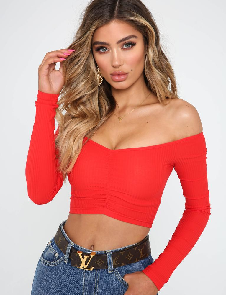 Sweetheart Crop - Red