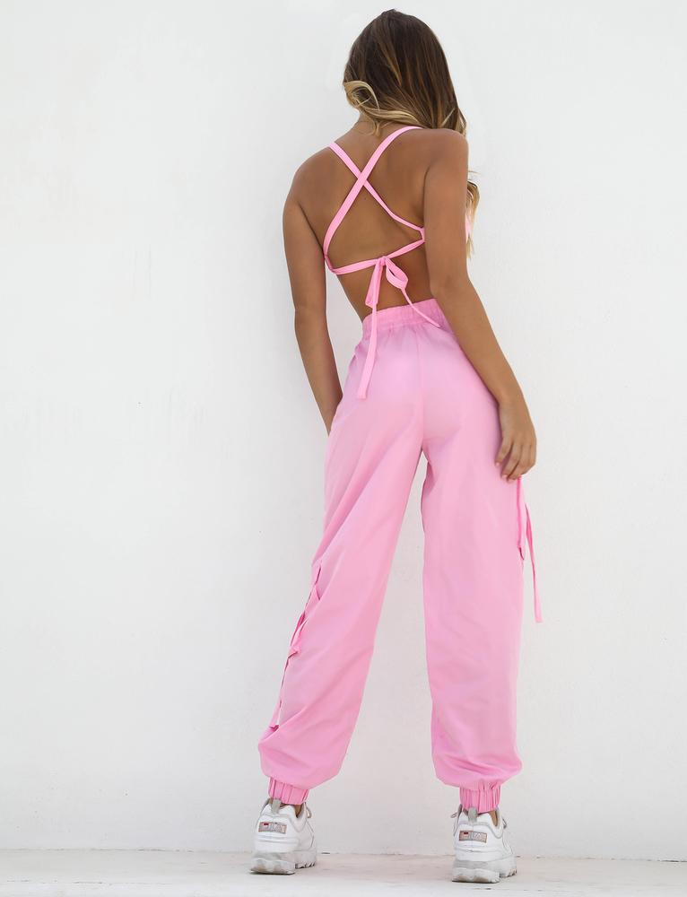 Floss Crop - Candy Pink