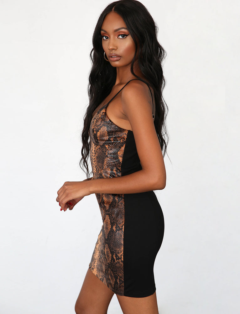 Serpent Dress - Orange Snakeskin