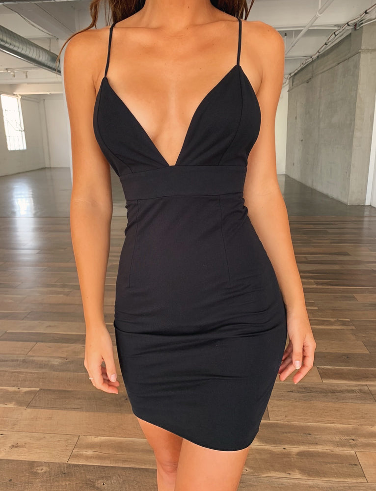 Embrasses Dress - Black