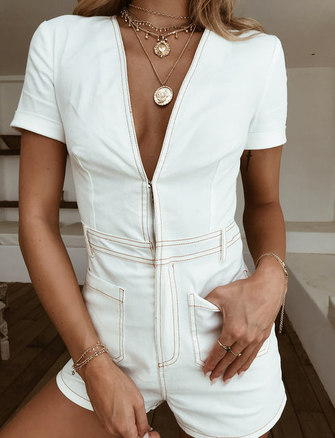 Drew Playsuit - White