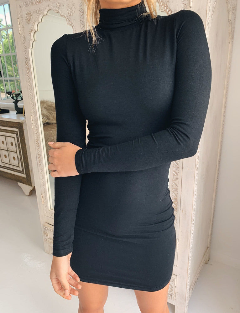 Casey Turtle Neck Dress - Black