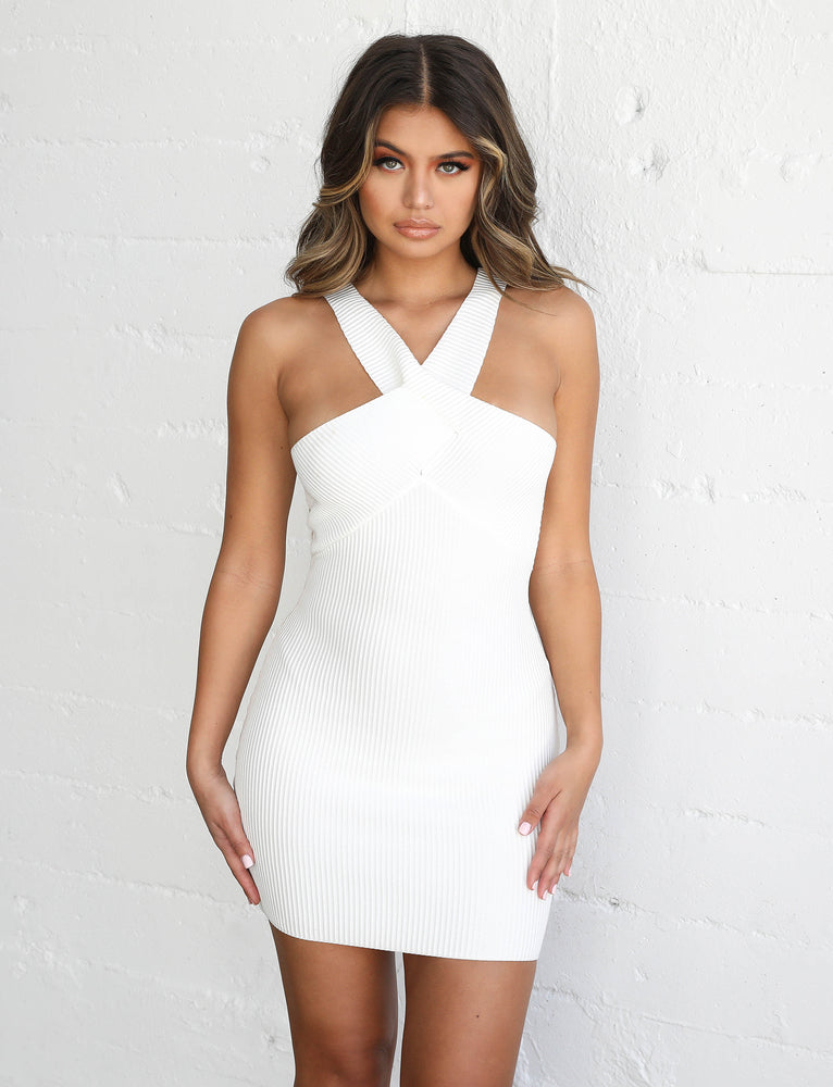 Chicago Mini Dress - White