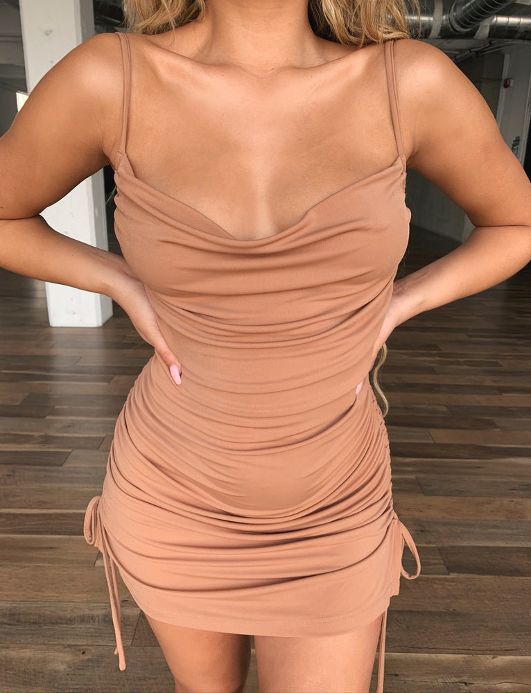 Porto Dress - Shiny Tan