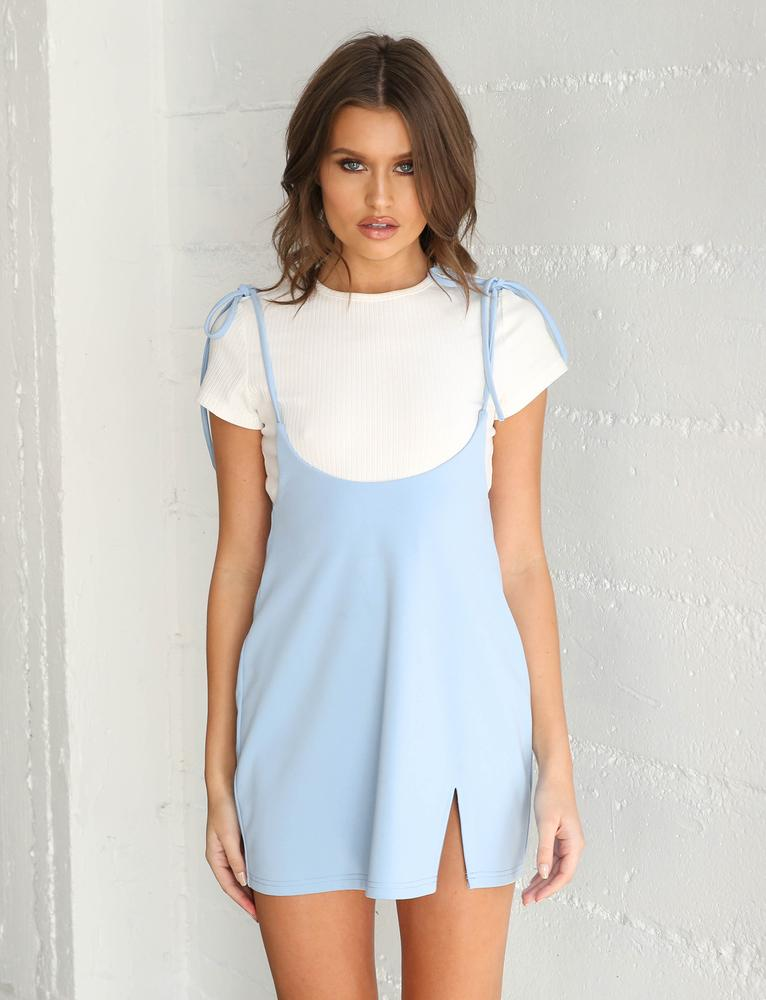 Clara Pini Dress - Baby Blue