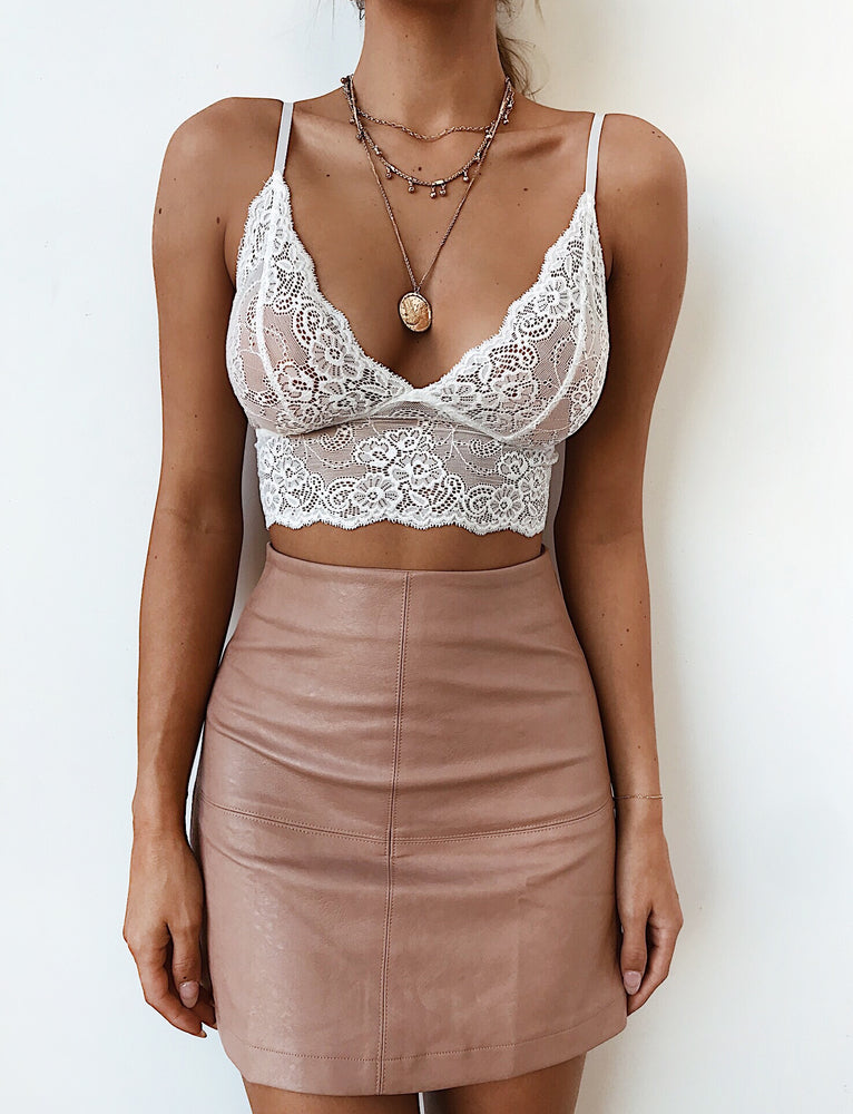 Lucky Lady Bralette - White