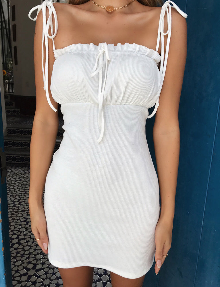 Saffron Dress - White