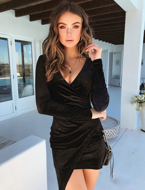 Estelle Dress - Black Velvet