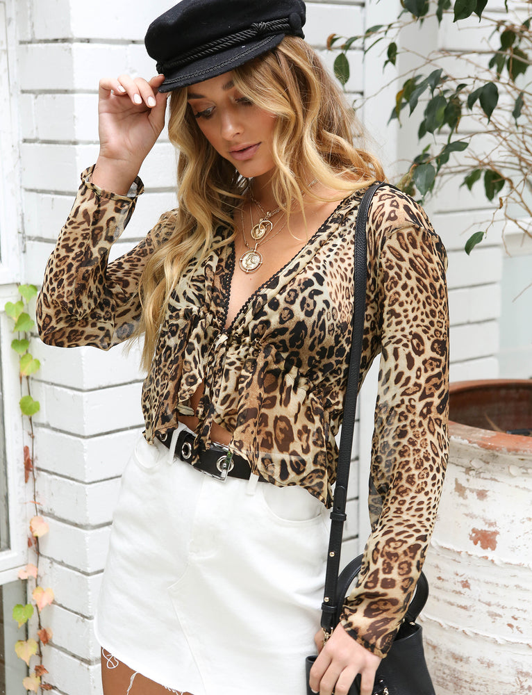 Wrangler Long Sleeve Top - Leopard