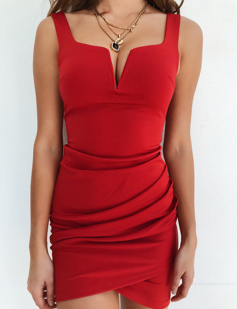 Leah Dress - Red