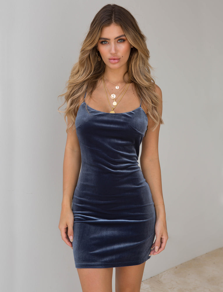 Audrina Dress - Steel