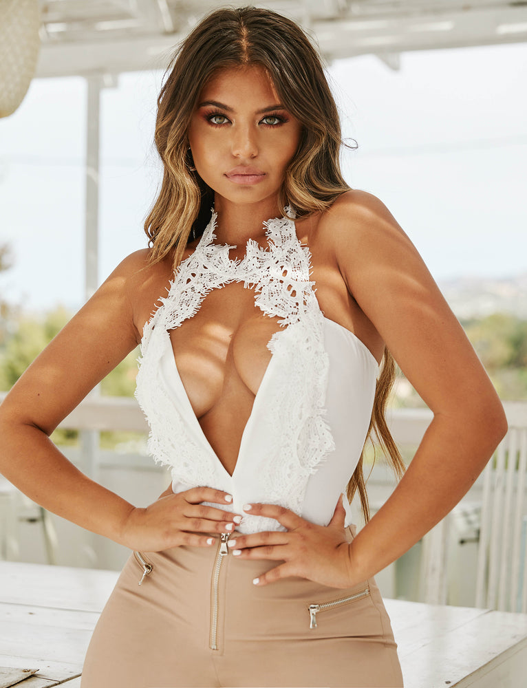 Lacy Bodysuit - White