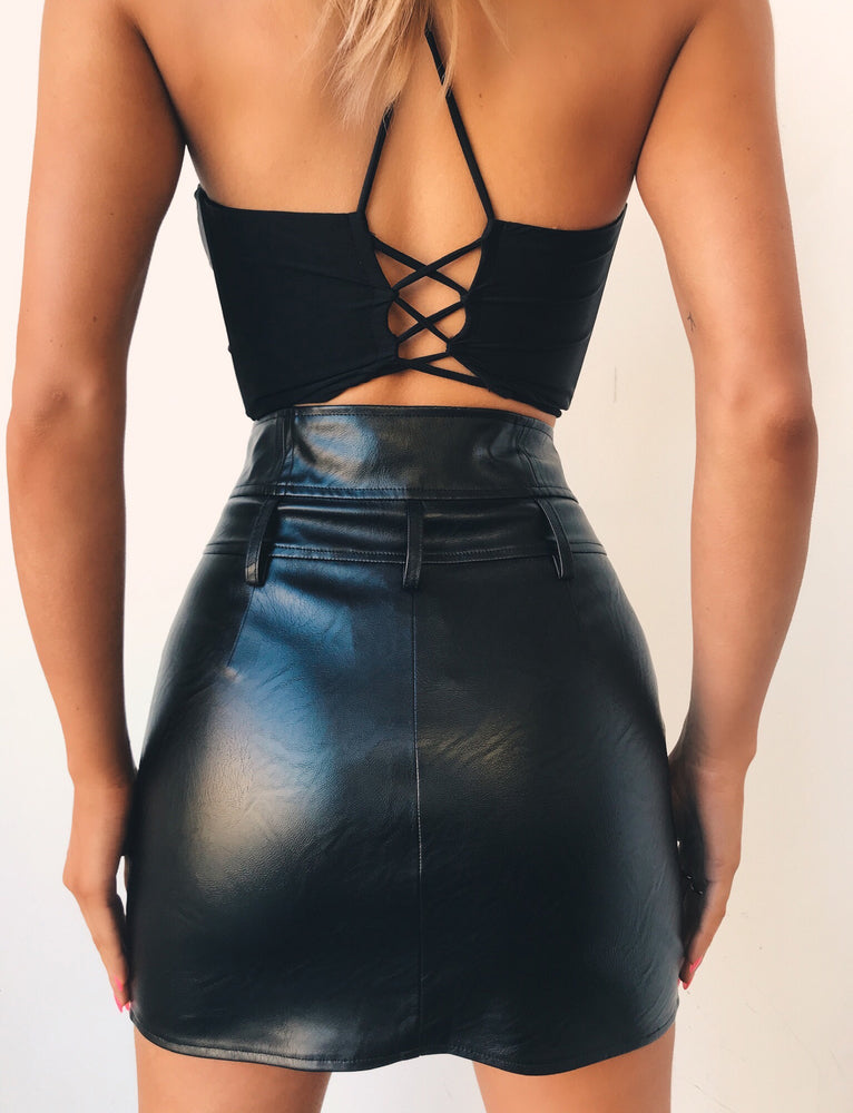 Athena Crop - Black