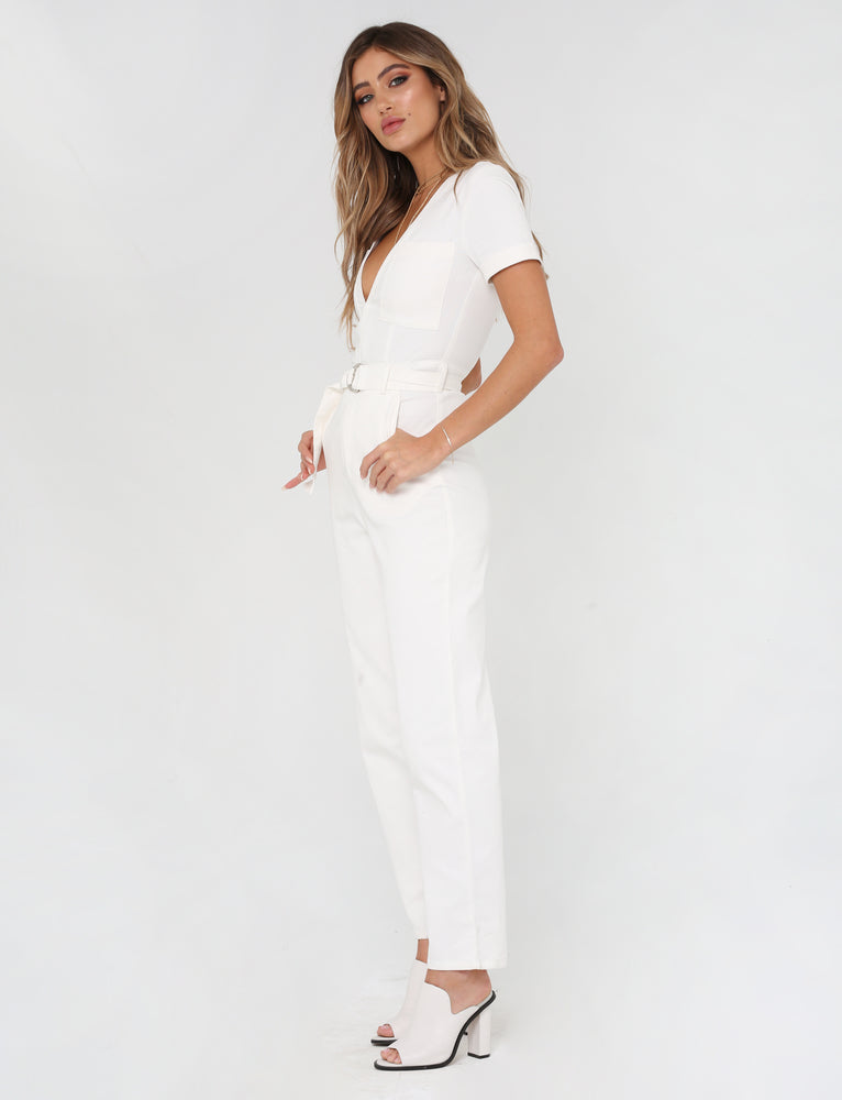 Phillipa Jumpsuit - White