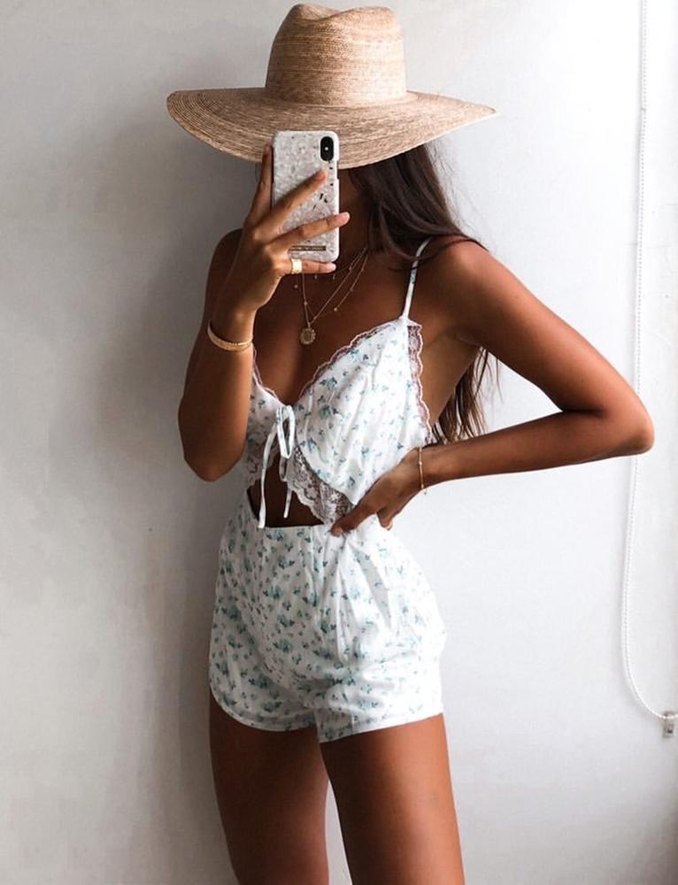 Camille Playsuit - White