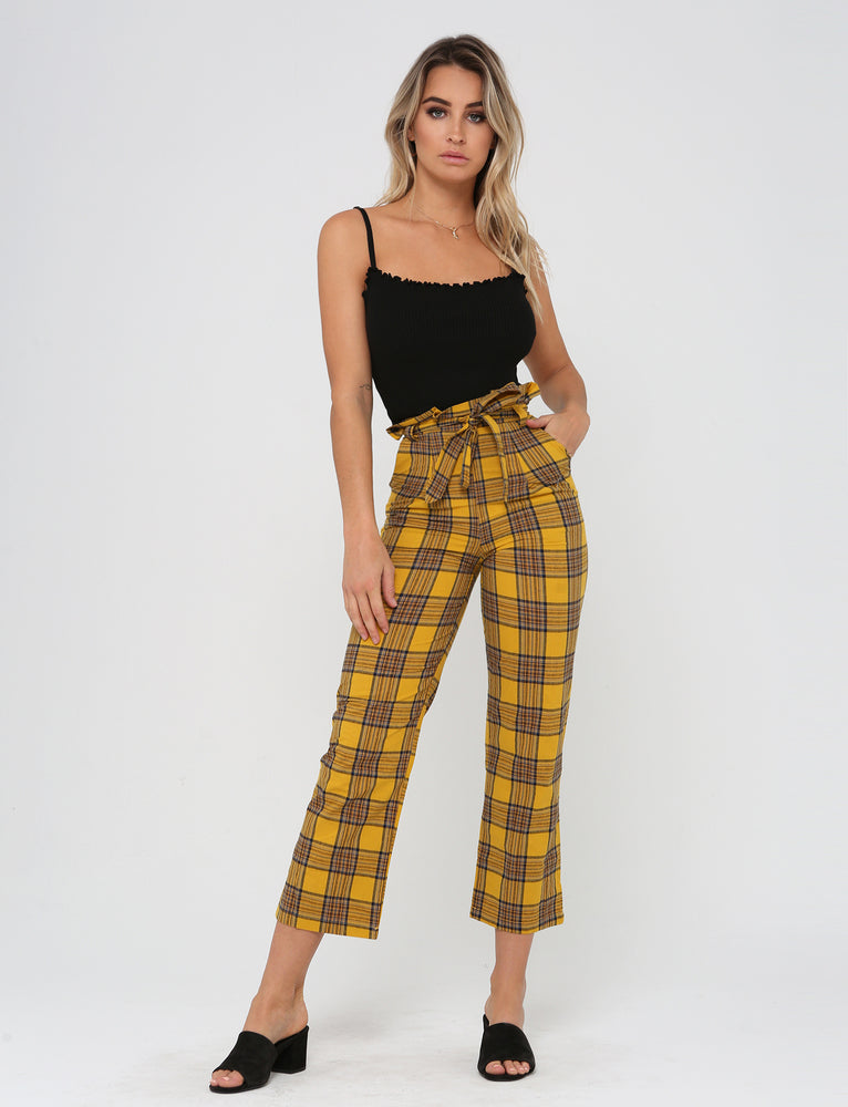 Mission Pant - Yellow Check