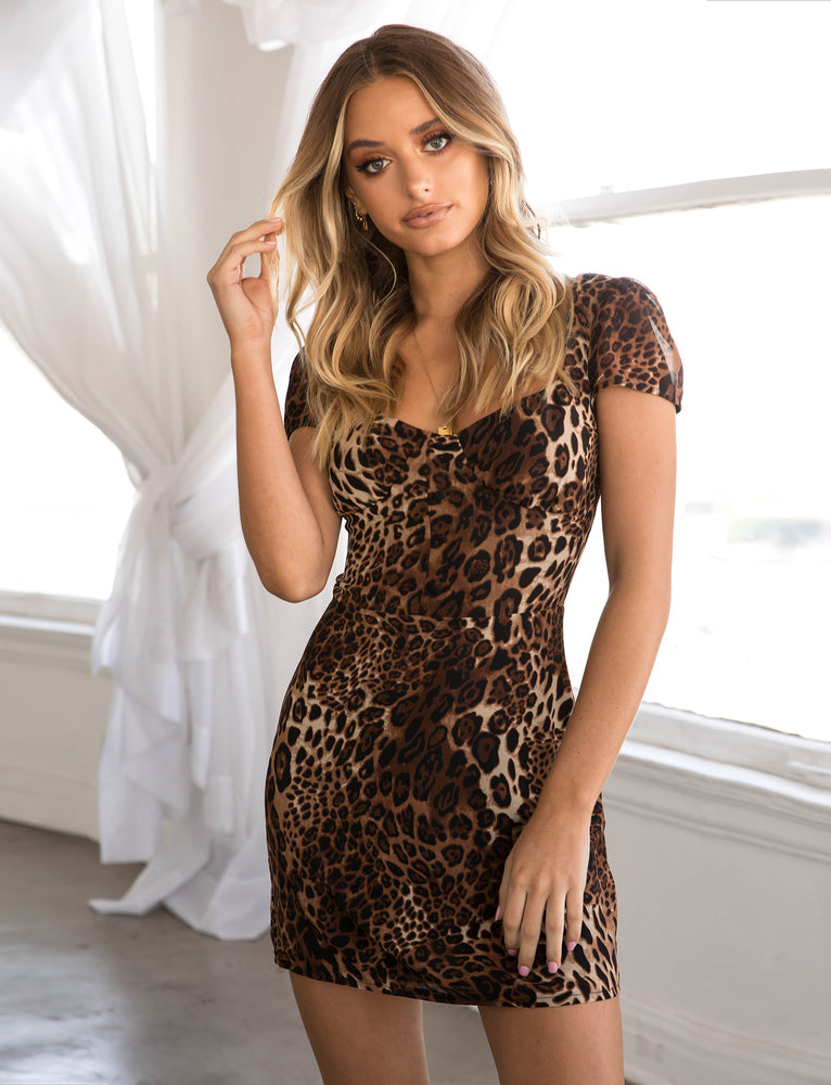Avalon Dress - Leopard