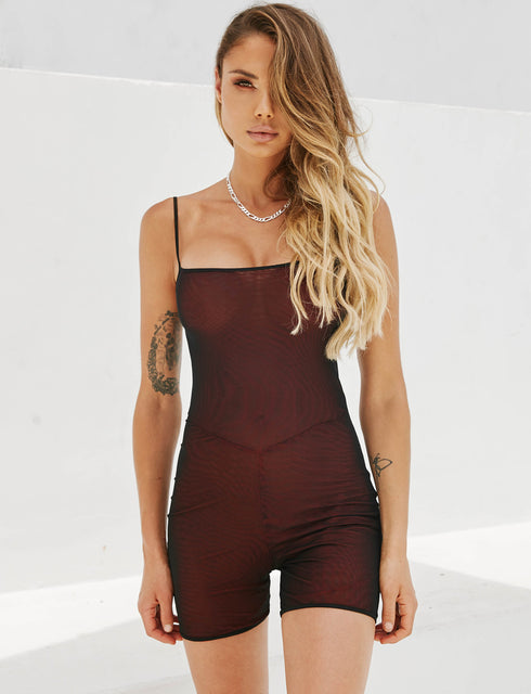 Ulric Playsuit - Red/Black