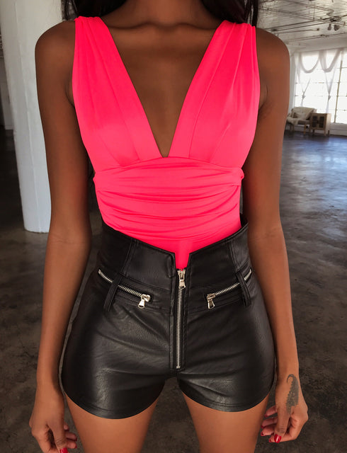 Swell Bodysuit - Neon Pink