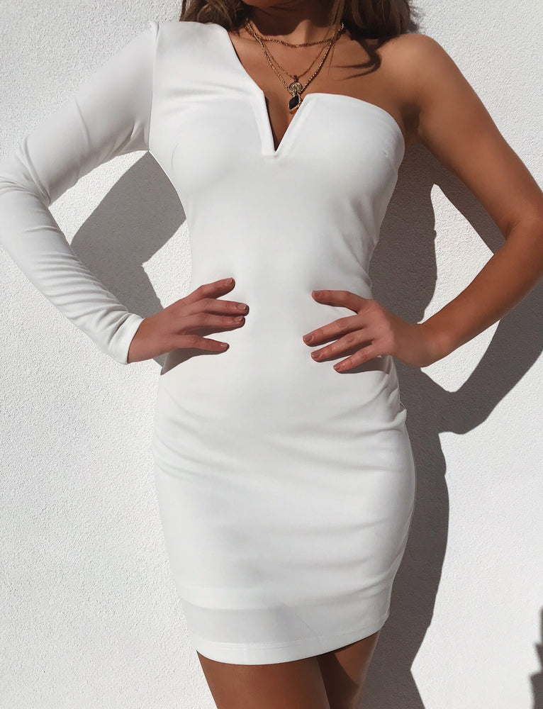 Quinn Long Sleeve Dress - White