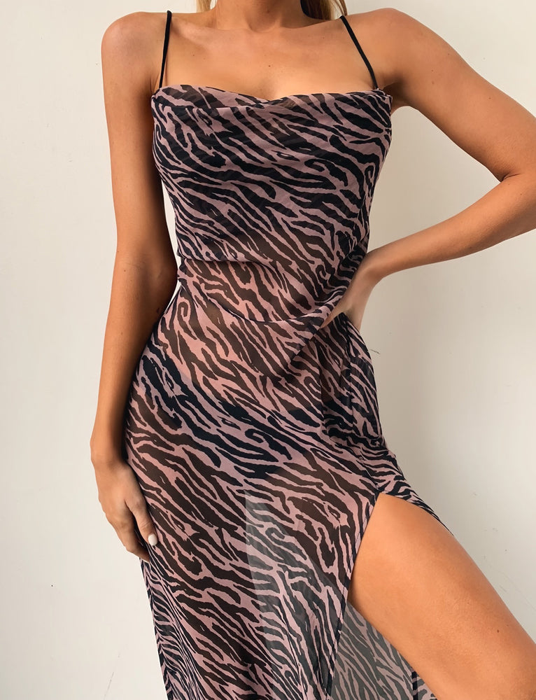 Zeta Dress - Purple Zebra