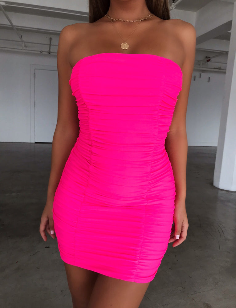 Sansa Dress - Hot Pink