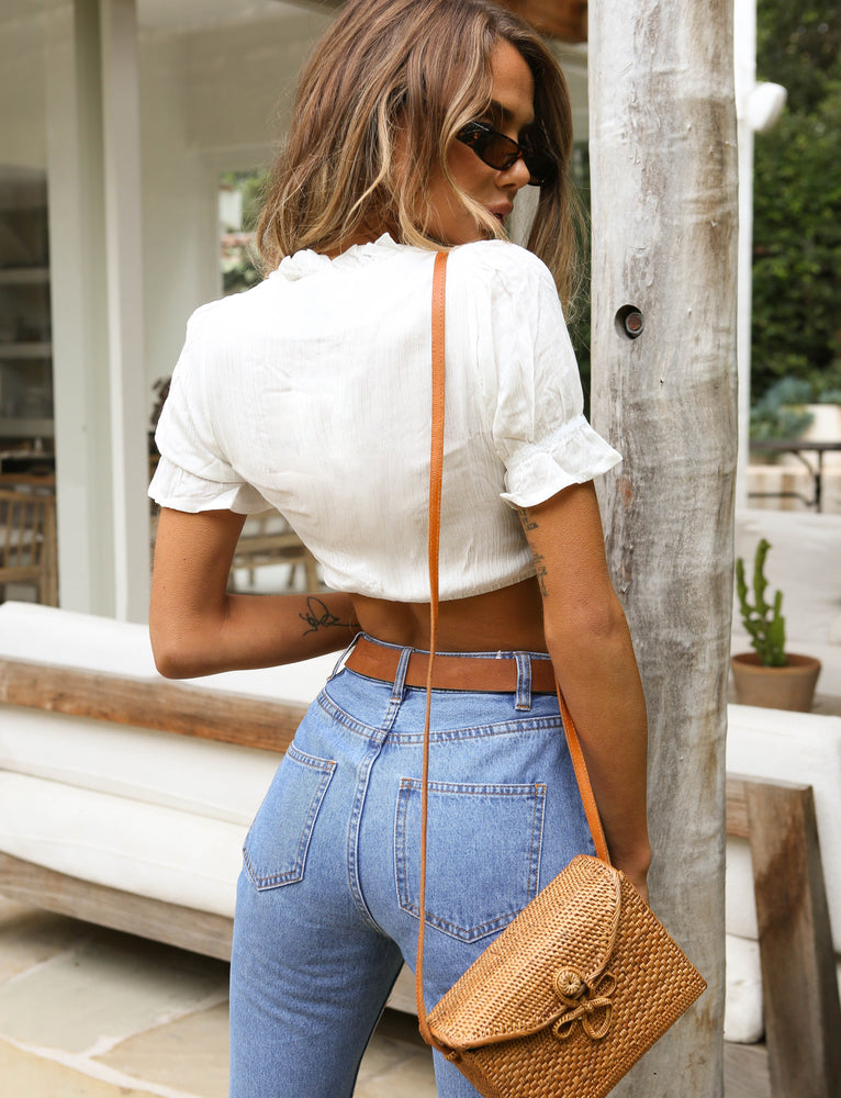 Fleetwood Crop Blouse - White