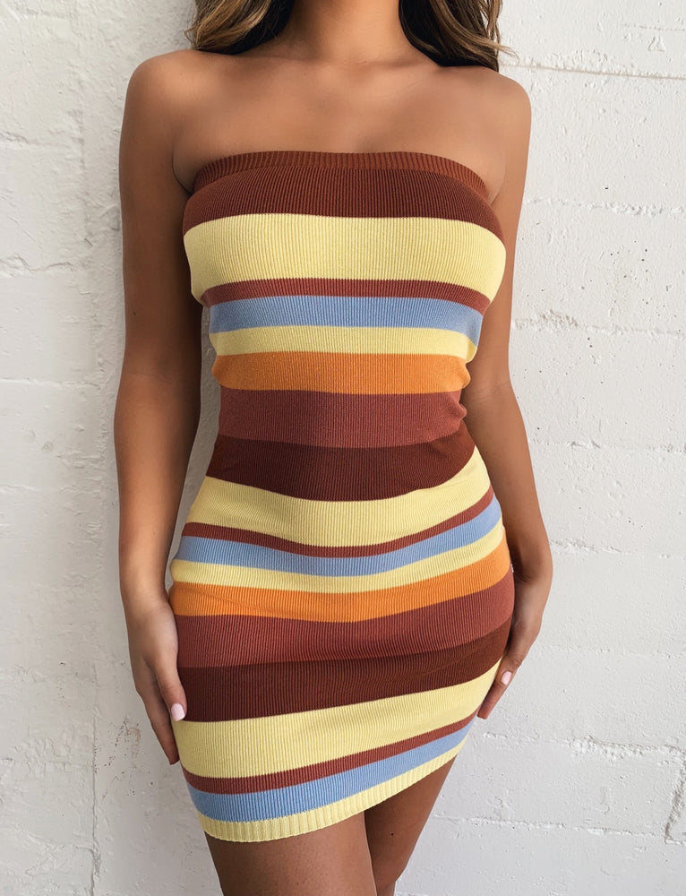 Haven Dress - Mustard Stripe