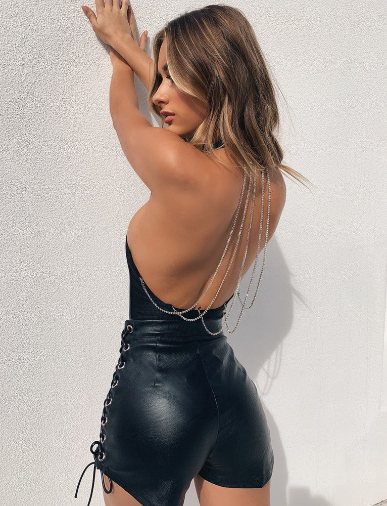Glowing Bodysuit - Black
