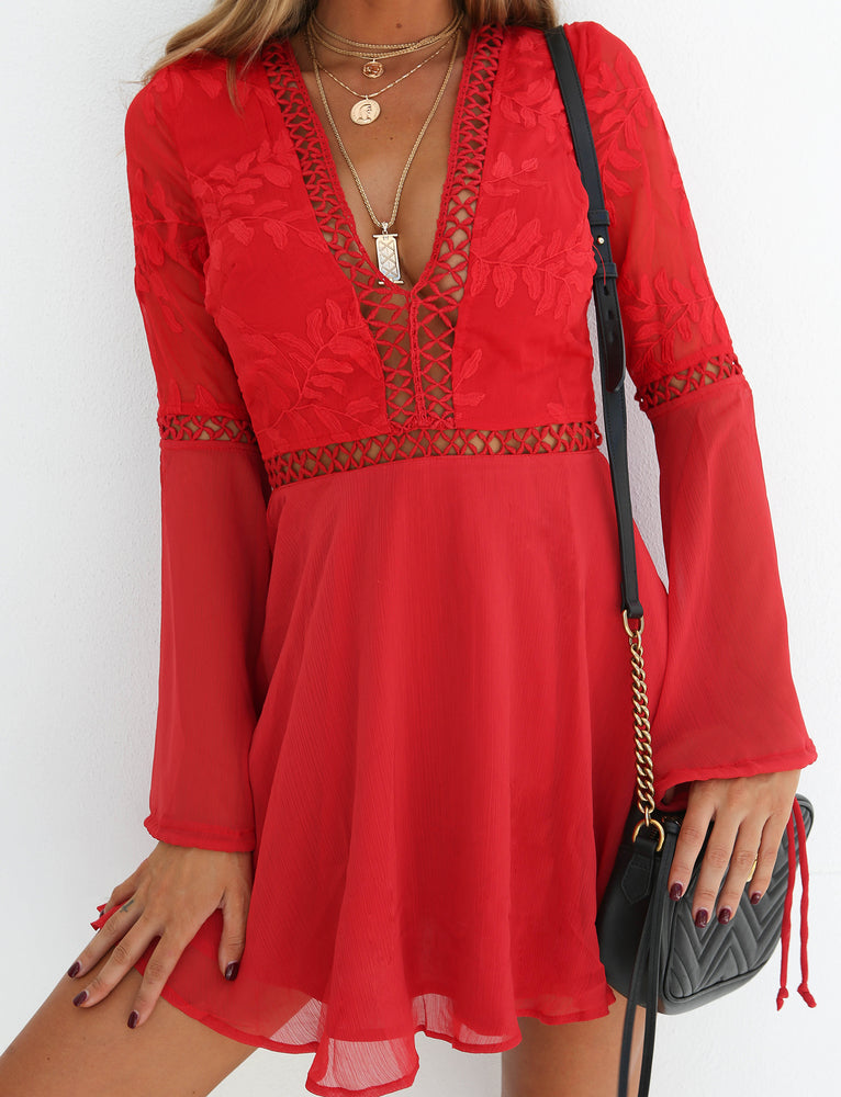 Kylie Dress  - Red