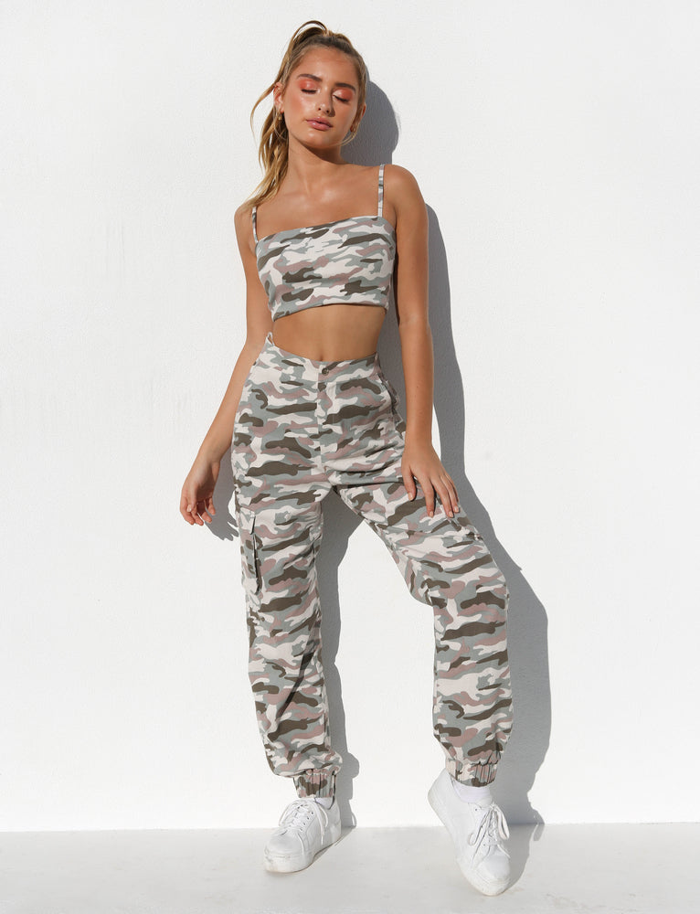 Piper Pant - Pink Camo