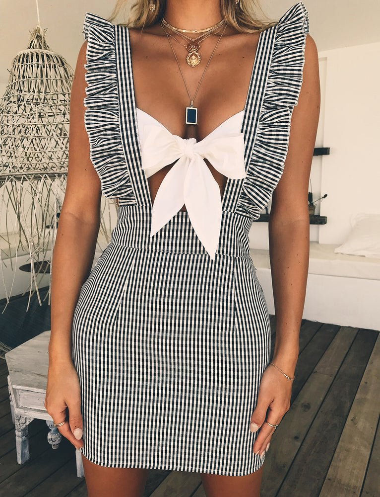 Tessa Pini Dress - Gingham
