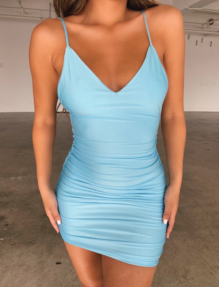 Alina Dress - Blue