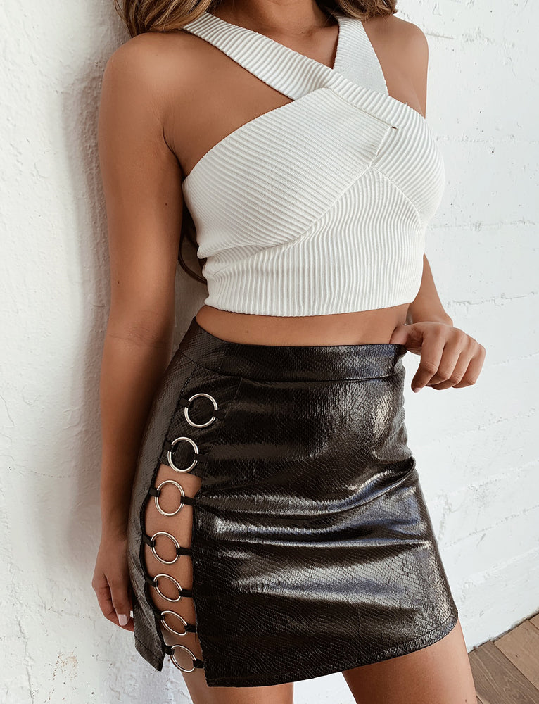 Aria Skirt - Black Snake