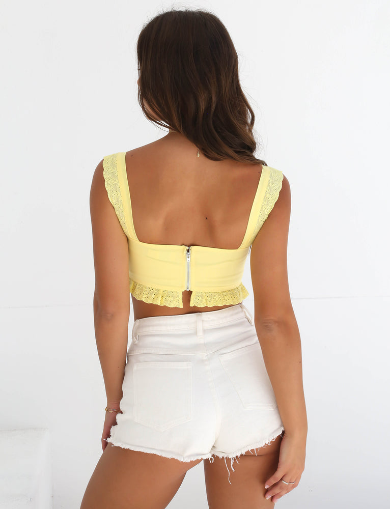 Bailey Crop - Yellow
