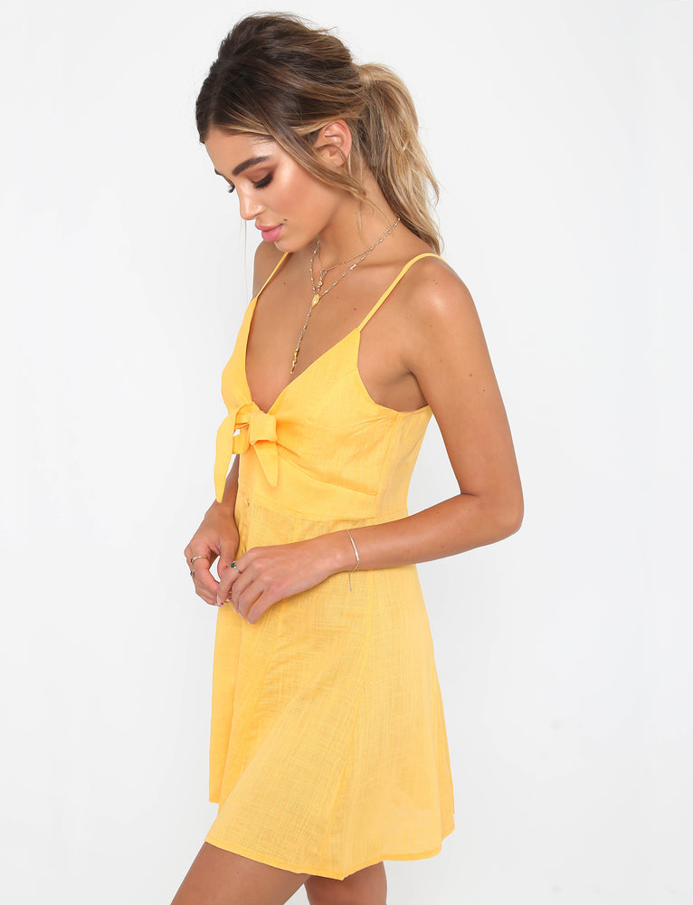 At Sunset Dress - Mustard