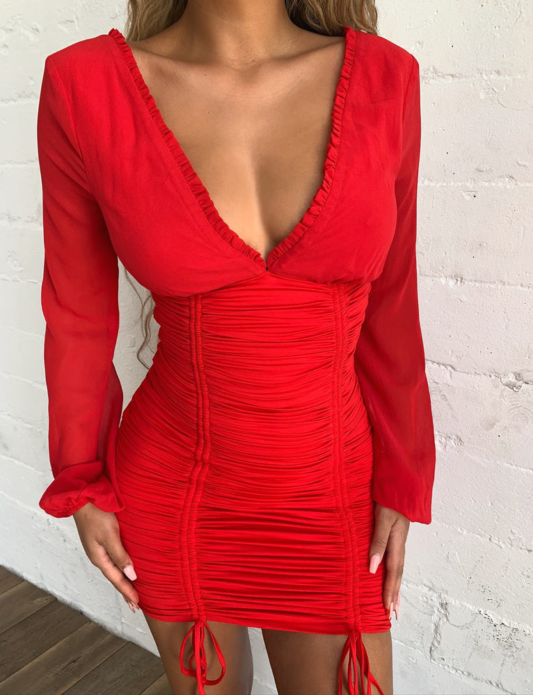Magnolia Dress - Red