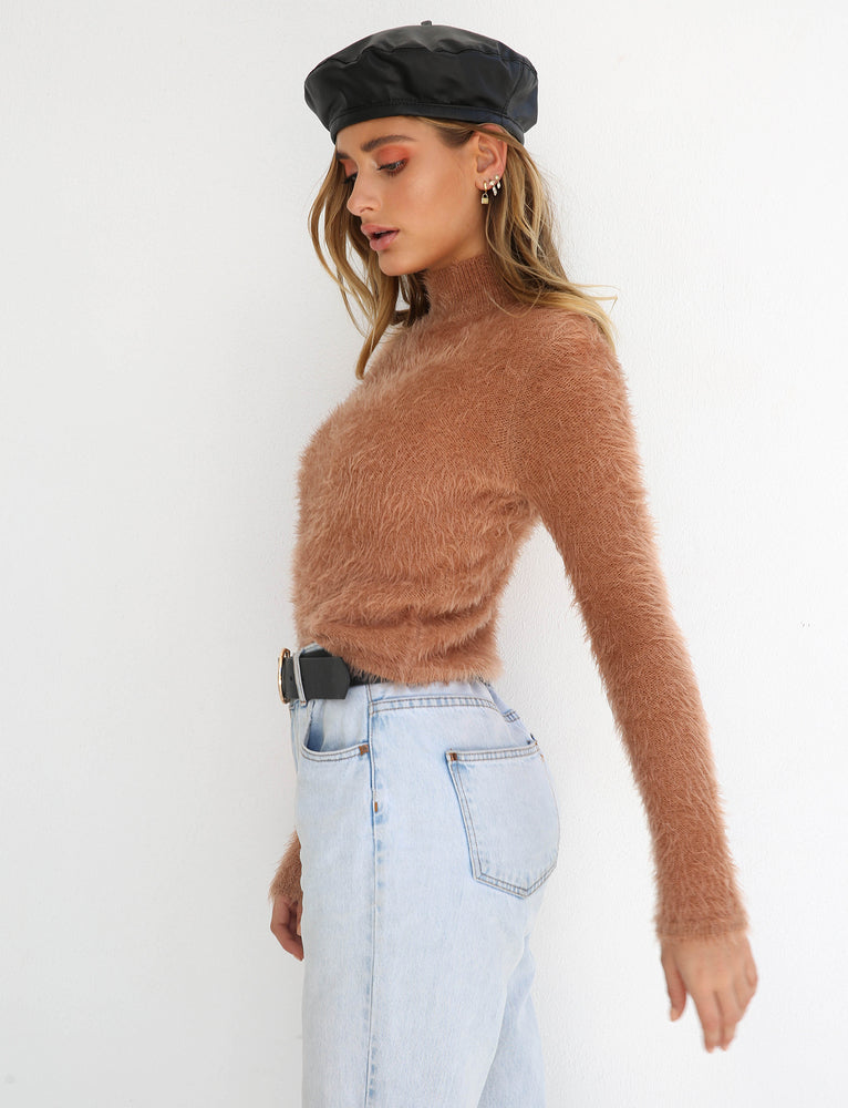 Ebony Knit - Tan
