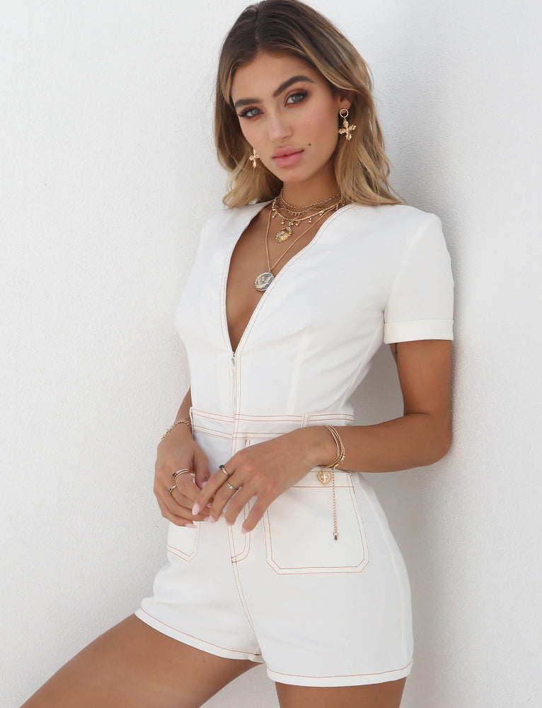 6363dc9ddaf Buy Our Drew Playsuit in White Online Today! - Tiger Mist