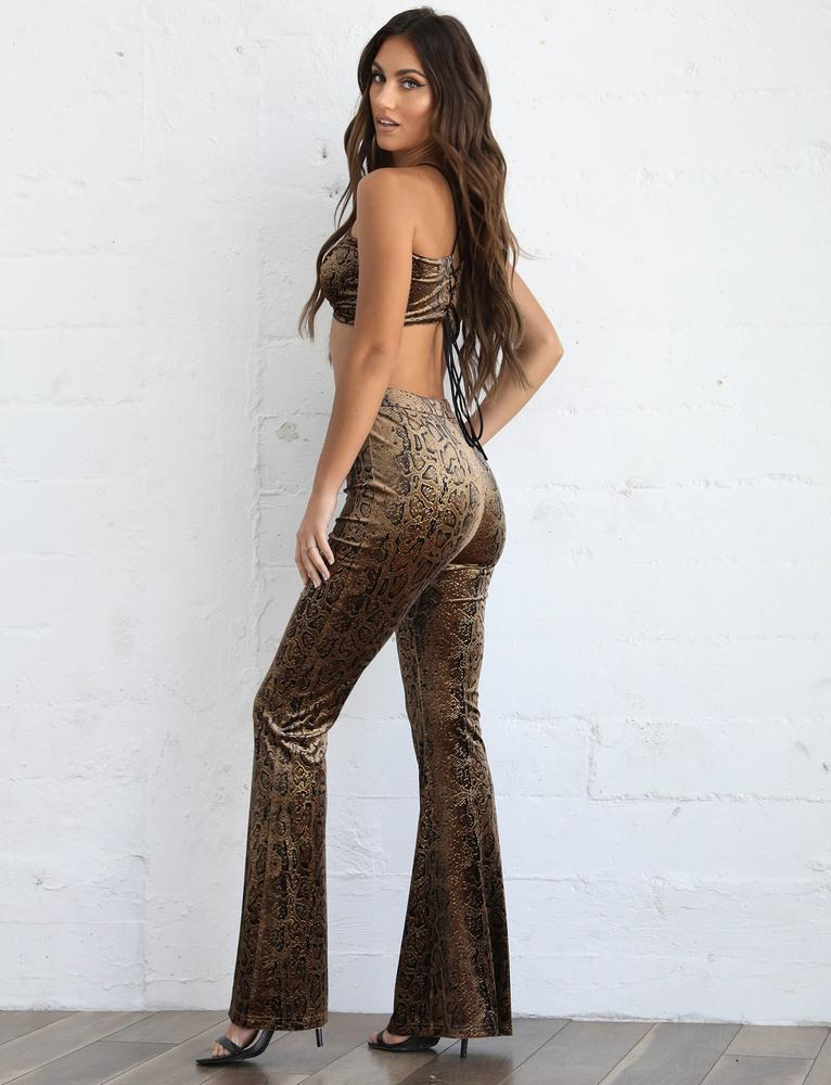 Athena Pant - Brown Snake