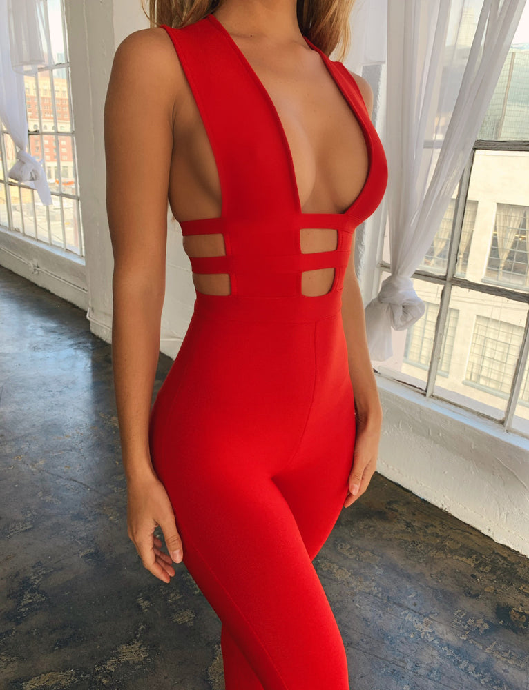 Marilyn Jumpsuit - Red