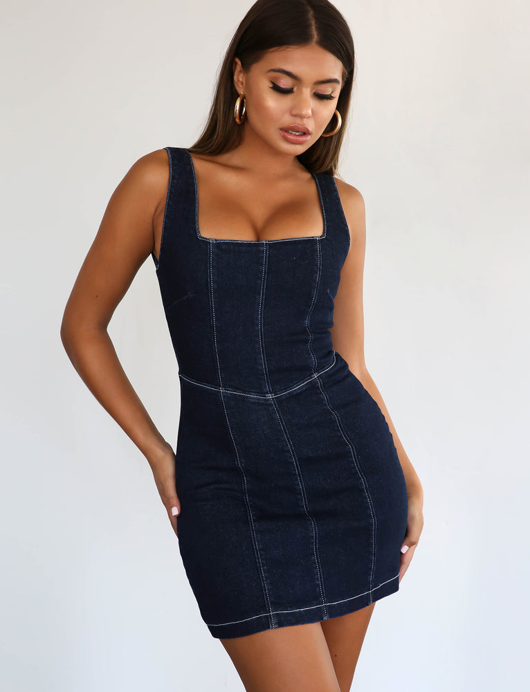 Danni Dress - Denim