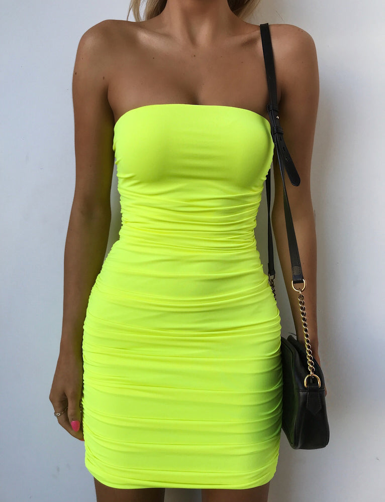 Keeli Dress - Neon Yellow
