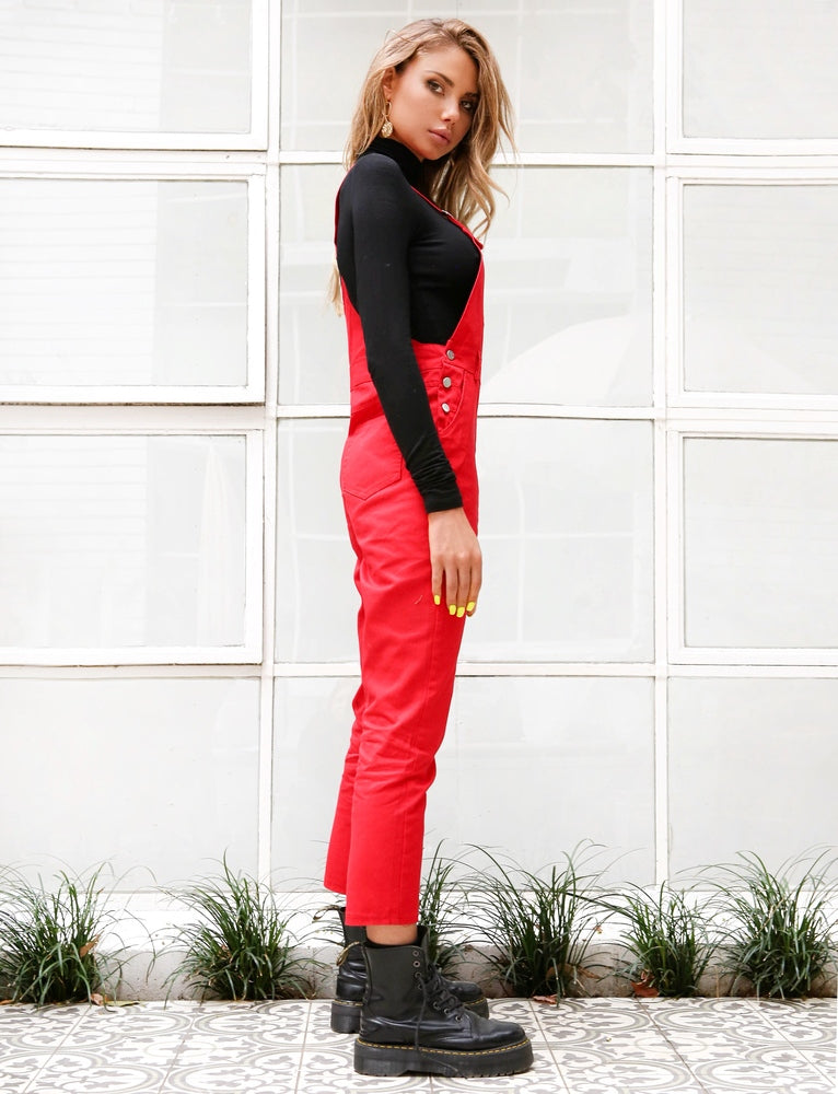 Woodley Overalls - Red