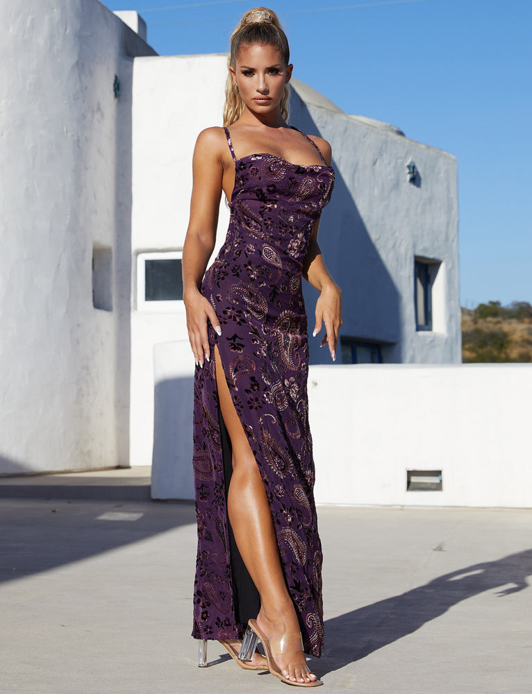 Kahlo Maxi Dress - Purple