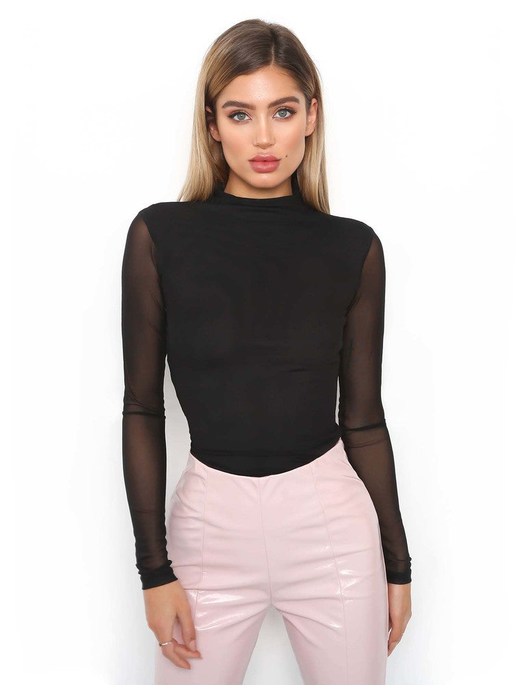 Cleo Bodysuit - Black
