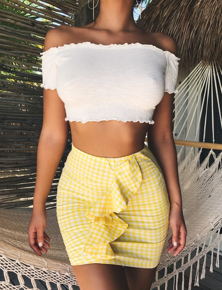Tessa Skirt - Yellow
