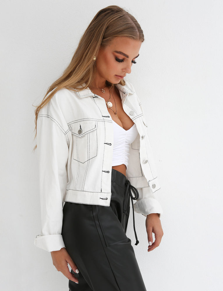 Bikers Denim Jacket - White