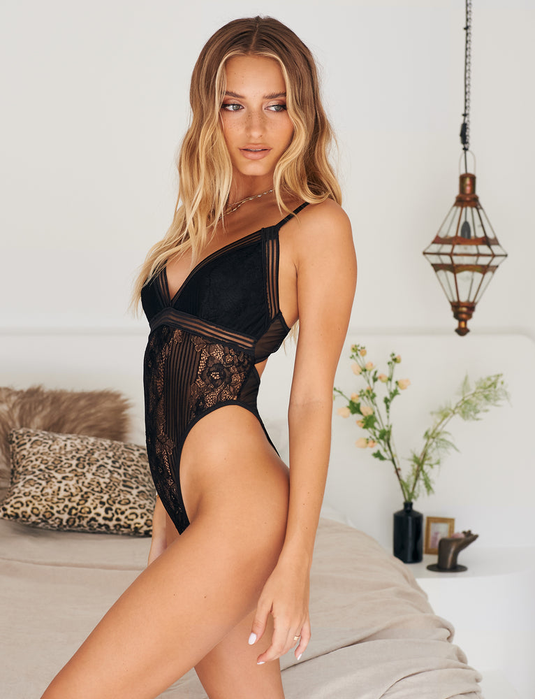 Claudine Bodysuit - Black
